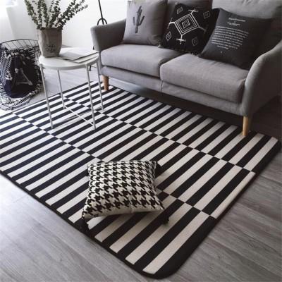 Sử dụng thảm kẻ sọc để trang trí phòng tiếp khách văn phòng