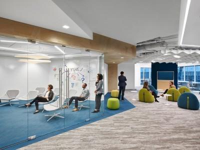 Tư vấn thiết kế phòng làm việc có diện tích rộng