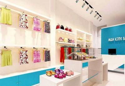 Thiết kế showroom quần áo trẻ em đẹp mắt, đáng yêu