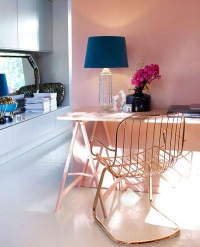 6 cách thiết kế phòng làm việc tại nhà với màu vàng và hồng đỏ