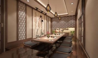 Thiết kế nội thất nhà hàng Nhật phong cách truyền thống