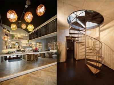 Thiết kế nội thất nhà hàng ăn nhanh đơn giản mà đầy cuốn hút