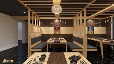 Mẫu thiết kế nhà hàng Nhật sang trọng
