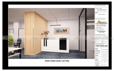 Thiết kế thi công nội thất văn phòng công ty SVM