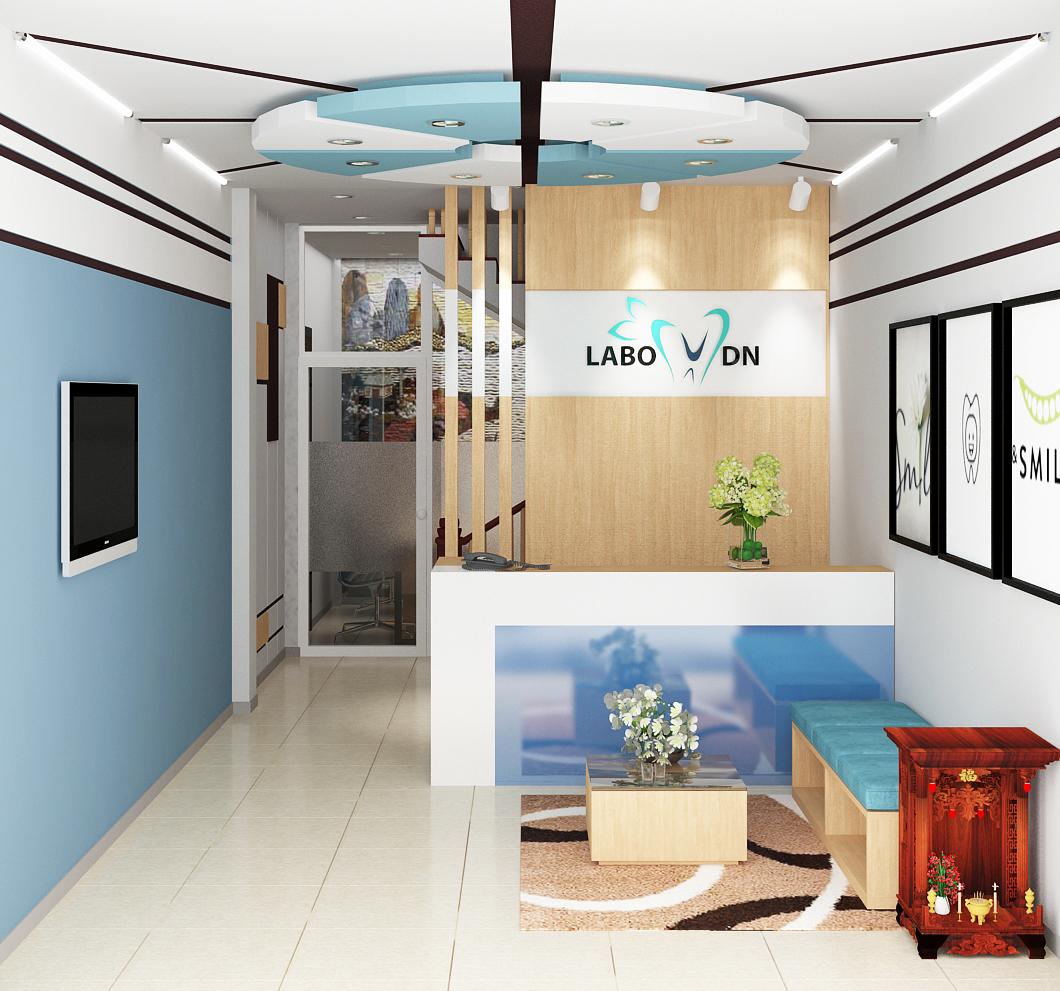 Thiết kế thi công nội thất văn phòng nha khoa Huỳnh Thúc Kháng