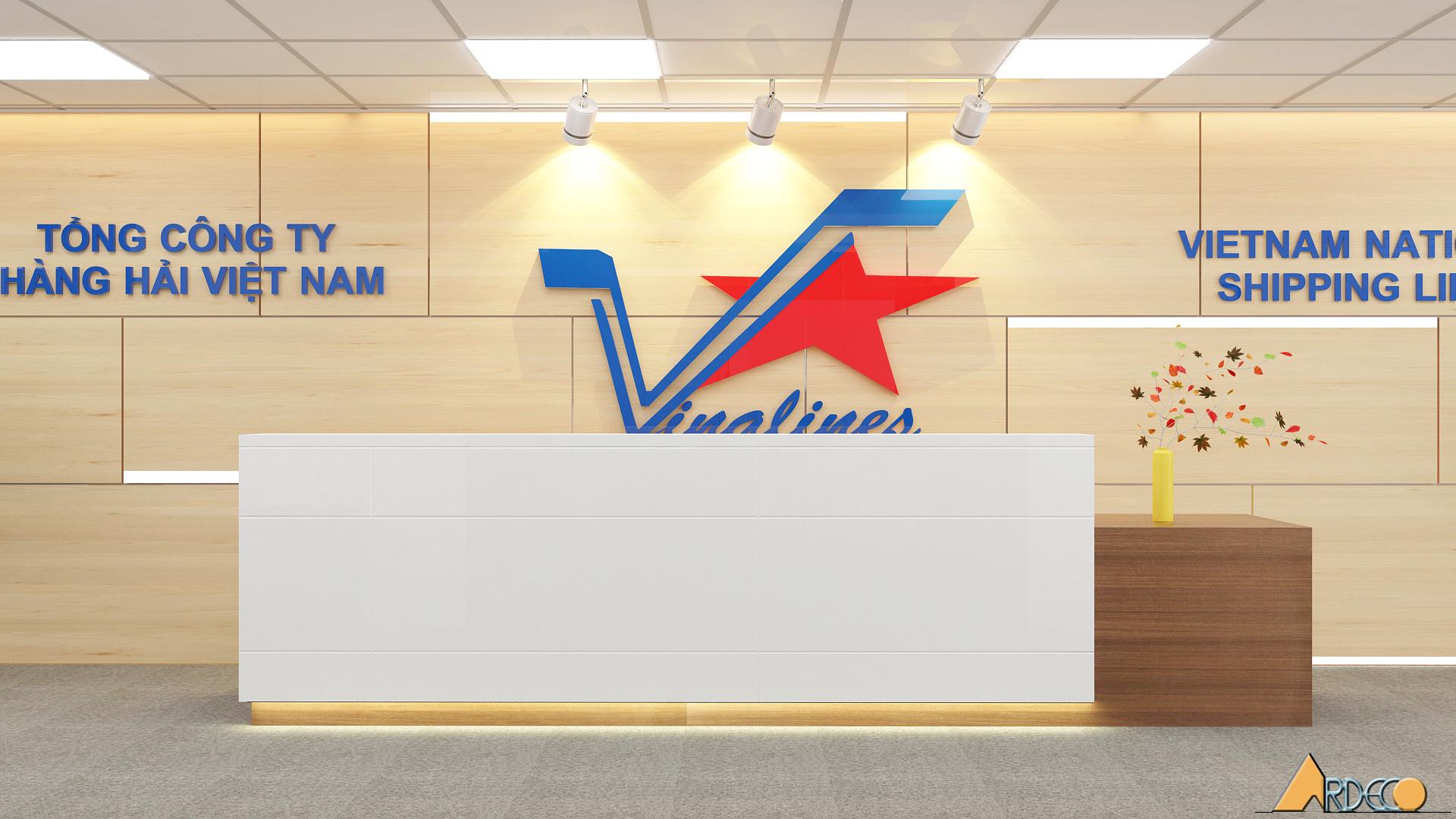 Thiết kế thi công nội thất văn phòng công ty hàng hải Việt Nam
