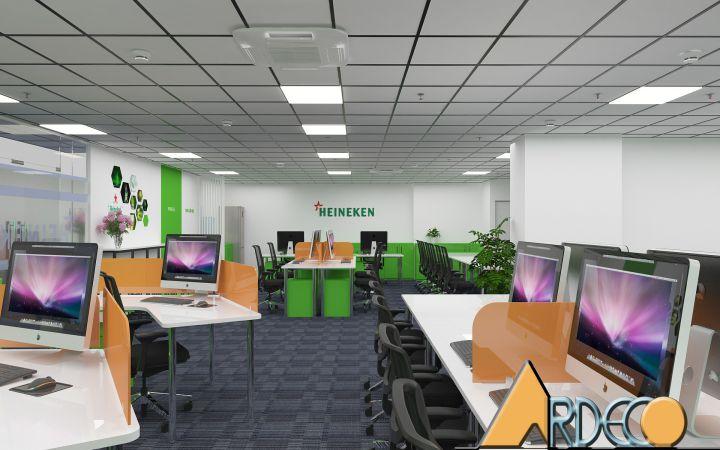 Thiết kế thi công nội thất văn phòng công ty Heineken