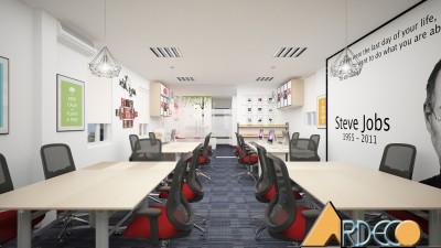 Thiết kế thi công nội thất văn phòng công ty CP giải pháp và phát triển doanh nghiệp Amica