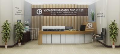 Thiết kế thi công nội thất văn phòng công ty công nghệ hoá chất và môi trường Vũ Hoàng
