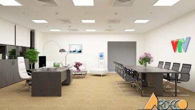 Thiết kế thi công nội thất văn phòng chị Diễm Quỳnh VTV