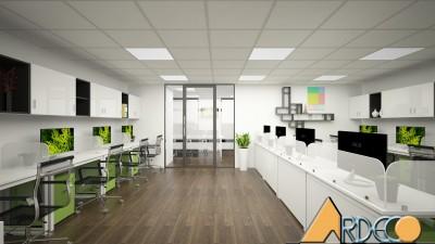 Thiết kế thi công nội thất văn phòng Đông Dương - Chị Hạnh