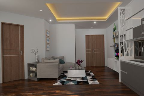 Dự án thiết kế nội thất chung cư 67m2 đơn giản mà không hề kém phần tinh tế