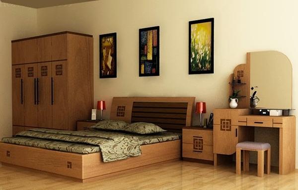 Mẫu giường ngủ gỗ đẹp GN08