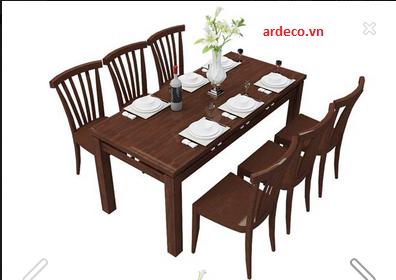 Bộ bàn ăn gỗ hương