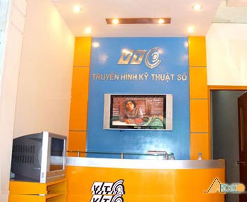 Trần thạch cao showroom TTC01