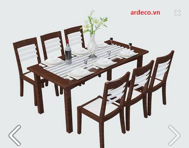 Bộ bàn ăn gỗ hiện đại