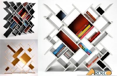 Giá sách sát tường đẹp tinh tế